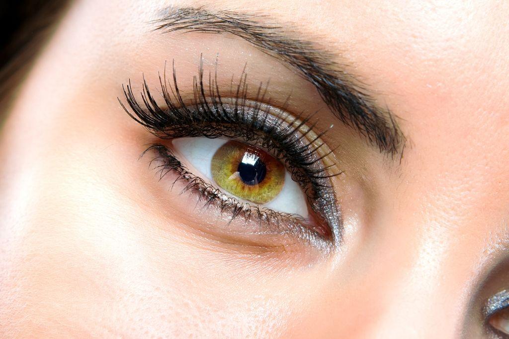 The macro female eye